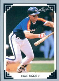 1991 Leaf #12 Craig Biggio VG Houston Astros