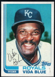 1982 Topps Traded #8T Vida Blue VG Kansas City Royals