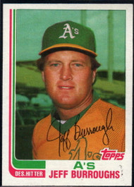1982 Topps Traded #14T Jeff Burroughs VG Oakland Athletics