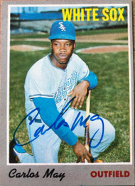 Carlos May Autographed 1970 Topps #18