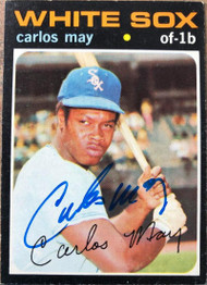 Carlos May Autographed 1971 Topps #243
