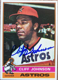 Cliff Johnson Autographed 1976 Topps #249