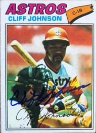 Cliff Johnson Autographed 1977 Topps #514
