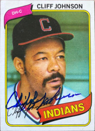 Cliff Johnson Autographed 1980 Topps #612