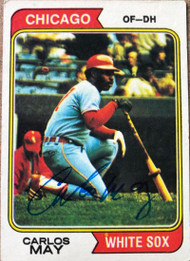 Carlos May Autographed 1974 Topps #195
