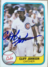 Cliff Johnson Autographed 1981 Fleer #303