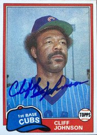 Cliff Johnson Autographed 1981 Topps #17
