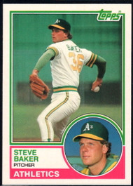1983 Topps Traded #6T Steve Baker VG RC Rookie Oakland Athletics