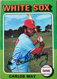 Carlos May Autographed 1975 Topps #480