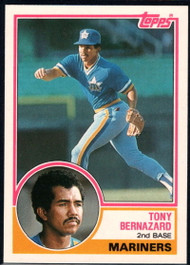 1983 Topps Traded #9T Tony Bernazard VG Seattle Mariners