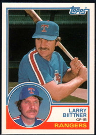 1983 Topps Traded #10T Larry Biittner VG Texas Rangers