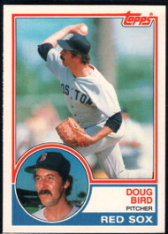 1983 Topps Traded #12T Doug Bird VG Boston Red Sox