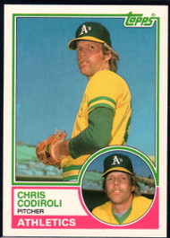 1983 Topps Traded #20T Chris Codiroli VG RC Rookie Oakland Athletics