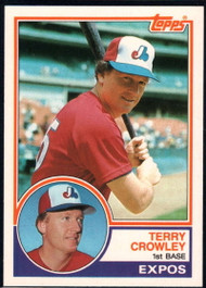 1983 Topps Traded #22T Terry Crowley VG Montreal Expos