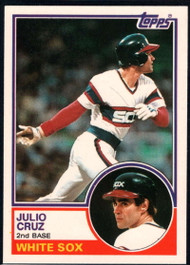1983 Topps Traded #23T Julio Cruz VG Chicago White Sox