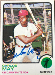 Carlos May Autographed 1973 Topps #105