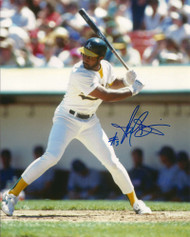 Harold Baines Autographed A's 8 x 10 Photo