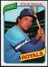 1980 Topps #9 Steve Braun VG Kansas City Royals