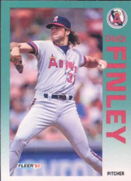 1992 Fleer #57 Chuck Finley VG California Angels