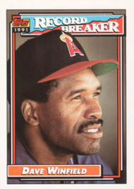 1992 Topps #5 Dave Winfield RB VG California Angels
