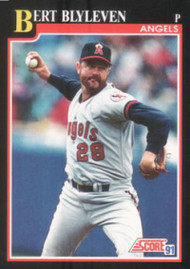 1991 Score #235 Bert Blyleven VG California Angels