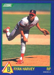 1989 Score Hottest 100 Rising Stars #92 Bryan Harvey NM-MT California Angels