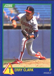 1989 Score Hottest 100 Rising Stars #89 Terry Clark NM-MT California Angels