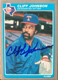 Cliff Johnson Autographed 1985 Fleer Update #U-61