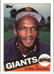1985 Topps Traded #10T Chris Brown NM-MT RC Rookie San Francisco Giants