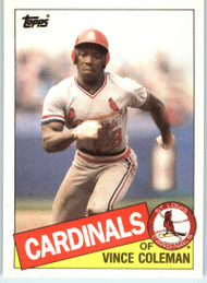 SOLD 95550 1985 Topps Traded #24T Vince Coleman NM-MT RC Rookie St. Louis Cardinals