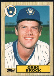 1987 Topps Traded #9T Greg Brock NM-MT Milwaukee Brewers
