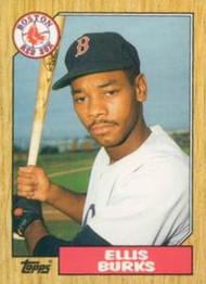 1987 Topps Traded #14T Ellis Burks NM-MT RC Rookie Boston Red Sox