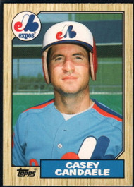 1987 Topps Traded #17T Casey Candaele NM-MT RC Rookie Montreal Expos