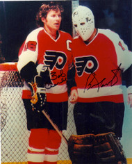 Bob Clarke and Bernie Parent Dual Signed 8 x 10 Photo