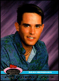 1992 Stadium Club Dome #15 Sean Bergman VG RC Rookie Detroit Tigers