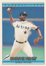 1992 Donruss #114 Dwayne Henry VG Houston Astros