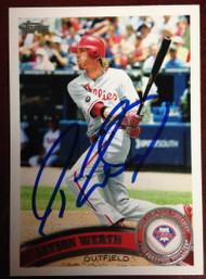 Jayson Werth Autographed 2011 Topps #325