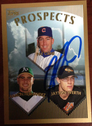 Jayson Werth Autographed 1999 Topps #209