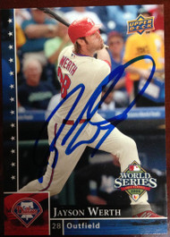 SOLD 2615 Jayson Werth Autographed 2008 Upper Deck Philadelphia Phillies World Series Champions #PP-2