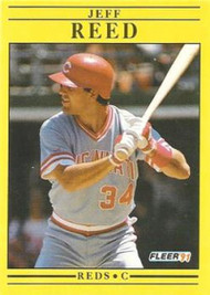 1991 Fleer #78 Jeff Reed VG Cincinnati Reds