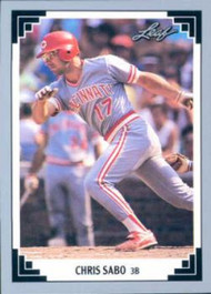1991 Leaf #65 Chris Sabo VG Cincinnati Reds
