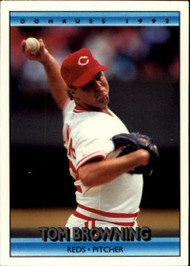 1992 Donruss #136 Tom Browning VG Cincinnati Reds