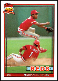 1991 Topps #13 Mariano Duncan VG Cincinnati Reds