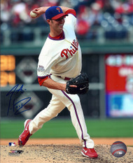 J.A. Happ Autographed Phillies 8 x 10 Photo