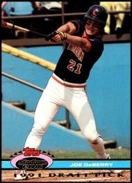 1992 Stadium Club Dome #34 Joe DeBerry VG RC Rookie Cincinnati Reds