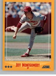 1988 Score #497 Jeff Montgomery VG RC Rookie Cincinnati Reds