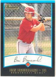 2001 Bowman #165 Ben Broussard VG Cincinnati Reds