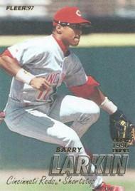 1997 Fleer #296 Barry Larkin VG Cincinnati Reds