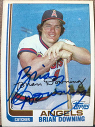 Brian Downing Autographed 1982 Topps #158