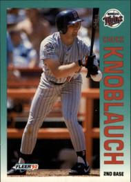 1992 Fleer #206 Chuck Knoblauch UER VG Minnesota Twins
